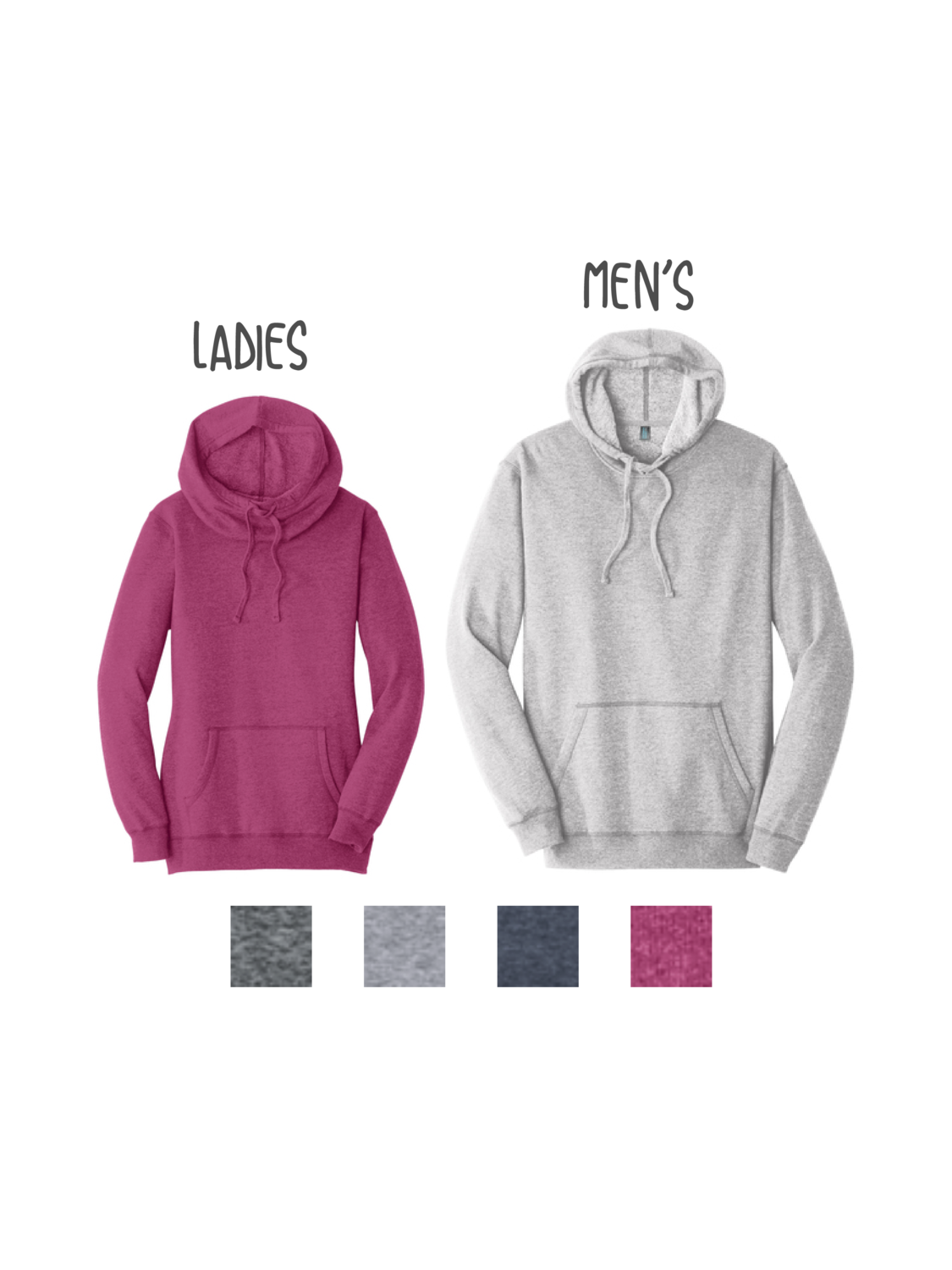 Customized District Lightweight Fleece Hoodie