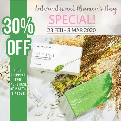 INTERNATIONAL WOMAN'S DAY SPECIAL (30% OFF + FREE SHIPPING)