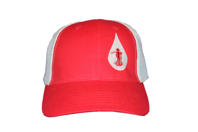 Country Boy Fishing Baseball Hat (Red/ White Logo)