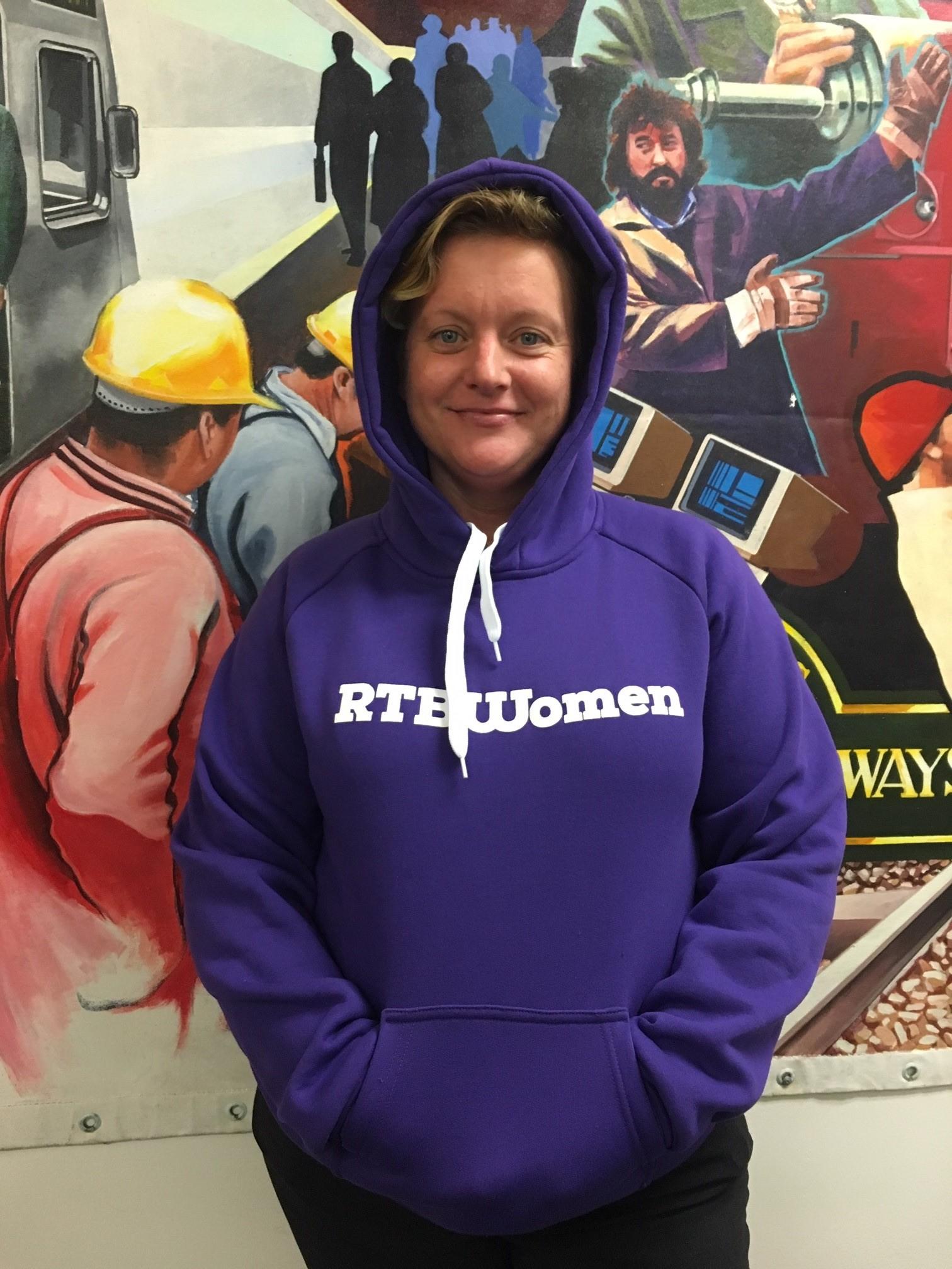 Purple RTBU Women Pullover Hoodie 00017