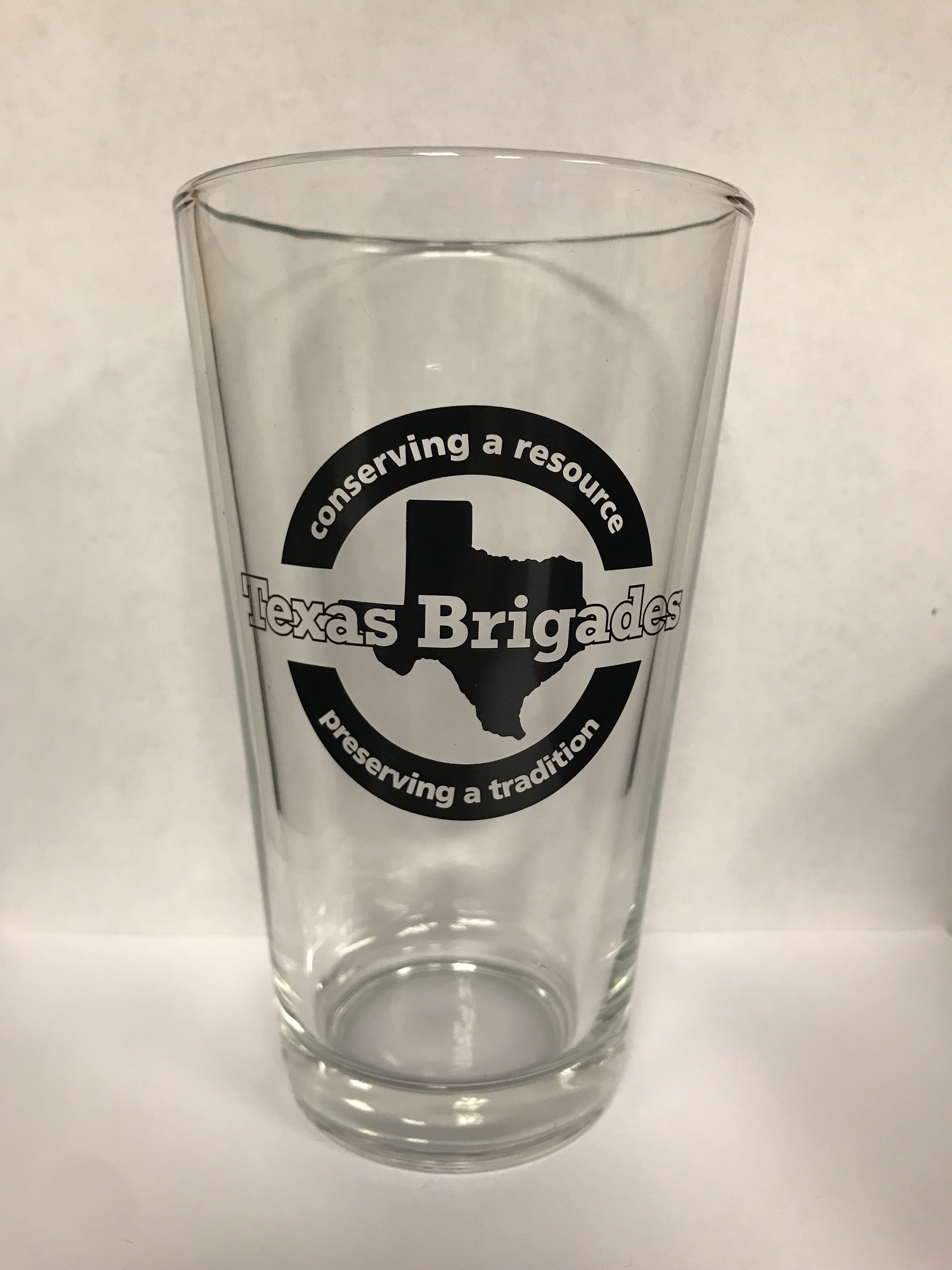 Texas Brigades Logo Pint Glass 00006