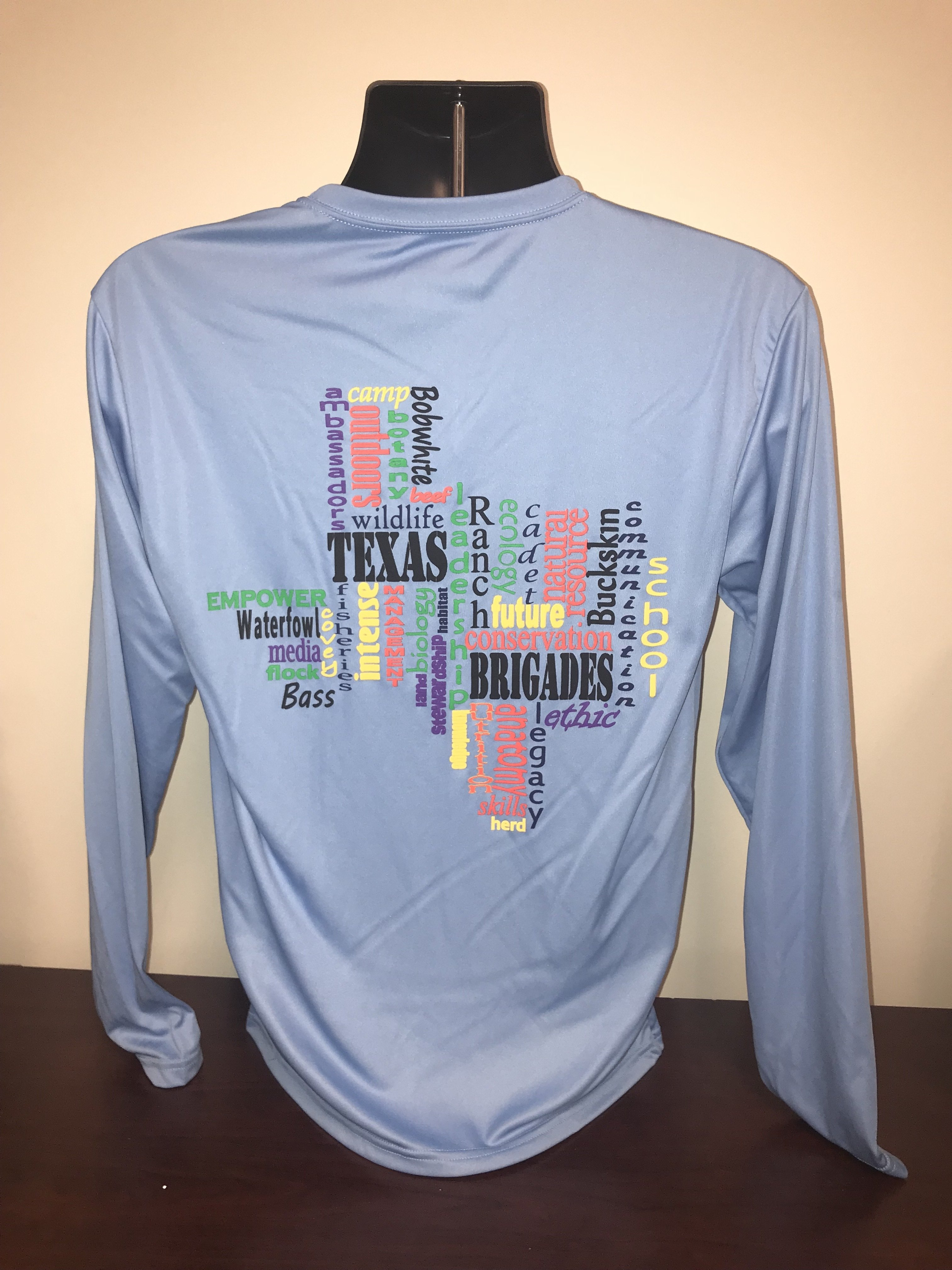 TX Word Cloud Performance Shirt (X-LARGE)