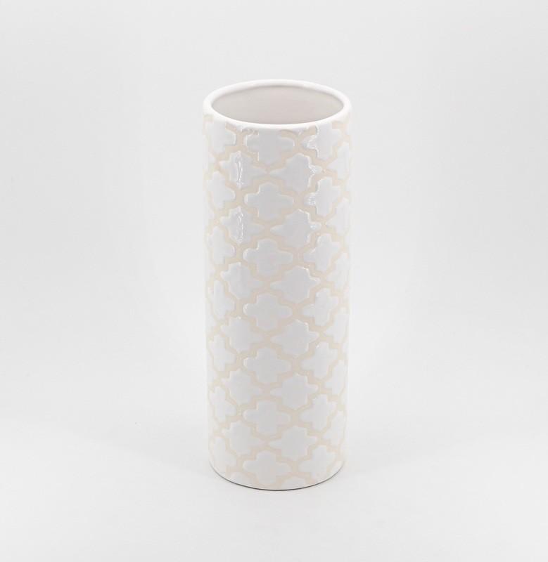 Vasetto in ceramica bianco Pz. 1
