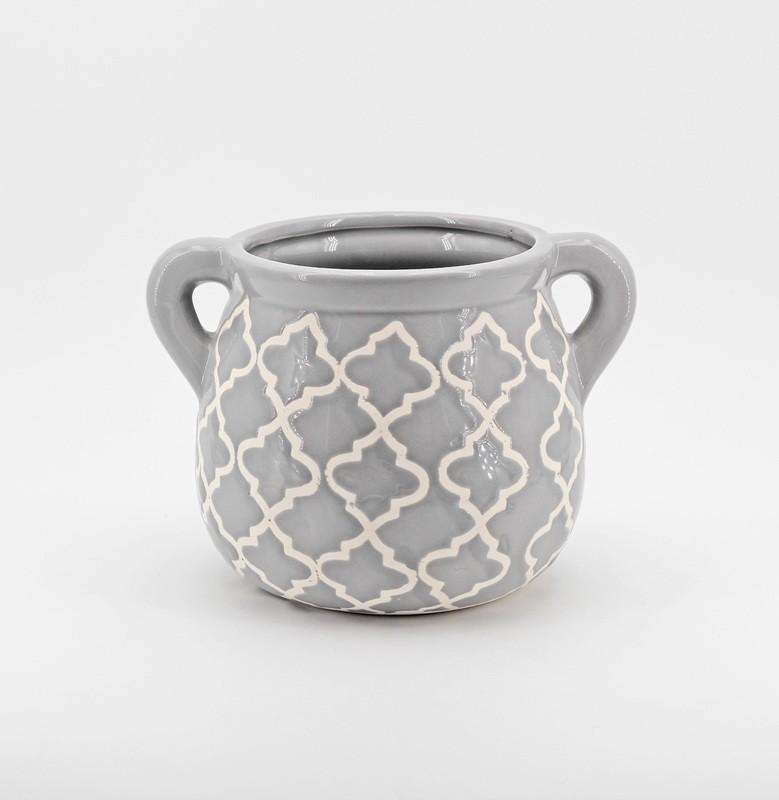 Vaso porta piante in ceramica Pz. 1