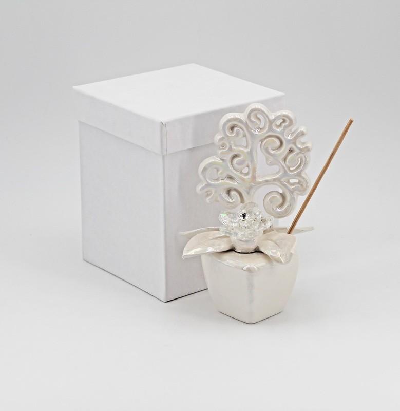 Bomboniera profumatore Piantina albero della vita con strass *prodotto artigianale* Pz.1