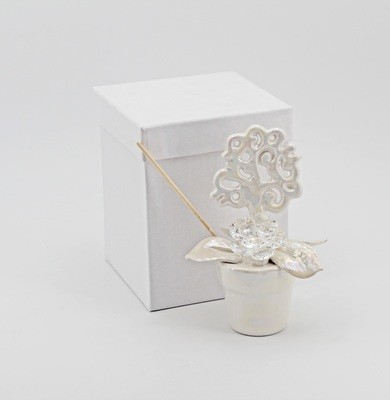 Bomboniera profumatore piantina vaso albero della vita con strass *prodotto artigianale* Pz. 1
