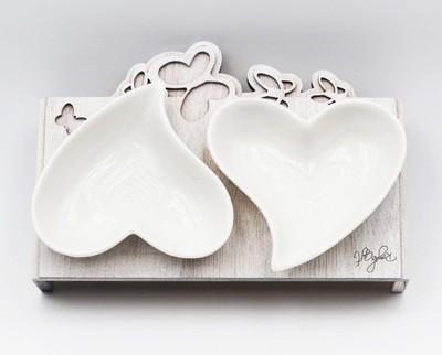 Bomboniera Set doppio cuore Pz. 1