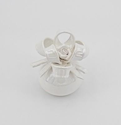 Bomboniera profumatore con fiocco piccolo caravaggio *prodotto artigianale* Pz.1