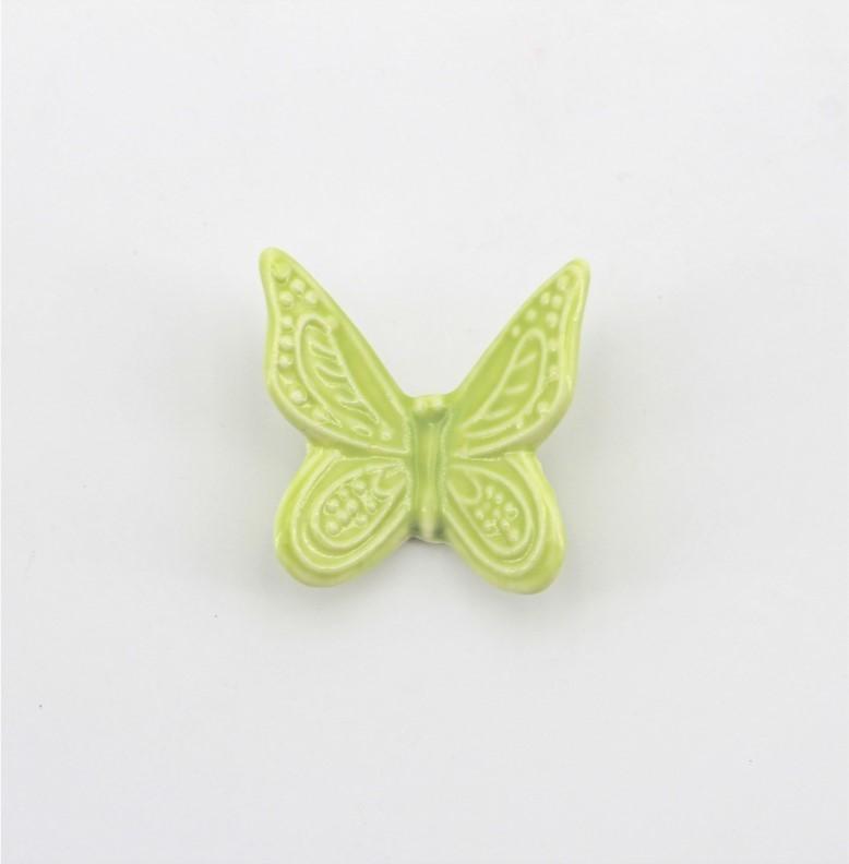 Bomboniera in ceramica calamita farfalla piccola Pz. 1