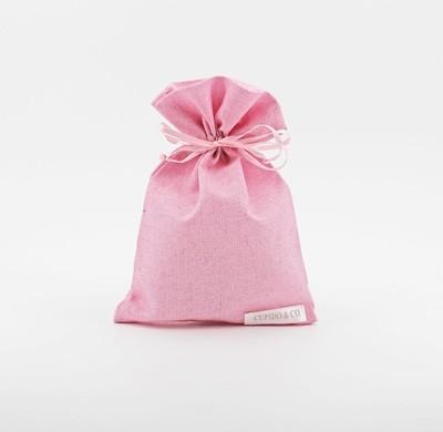 Sacchetto rosa glitter Pz. 12