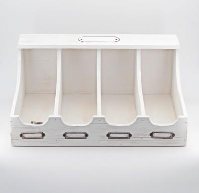Contenitore 4 divisori in legno per confettata Pz. 1