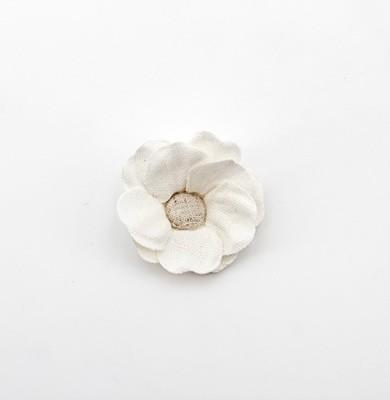 Applicazione fiore bianco Pz. 12