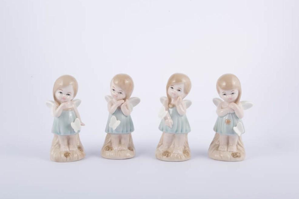 Bomboniera in porcellana fatina bimba Pz. 4