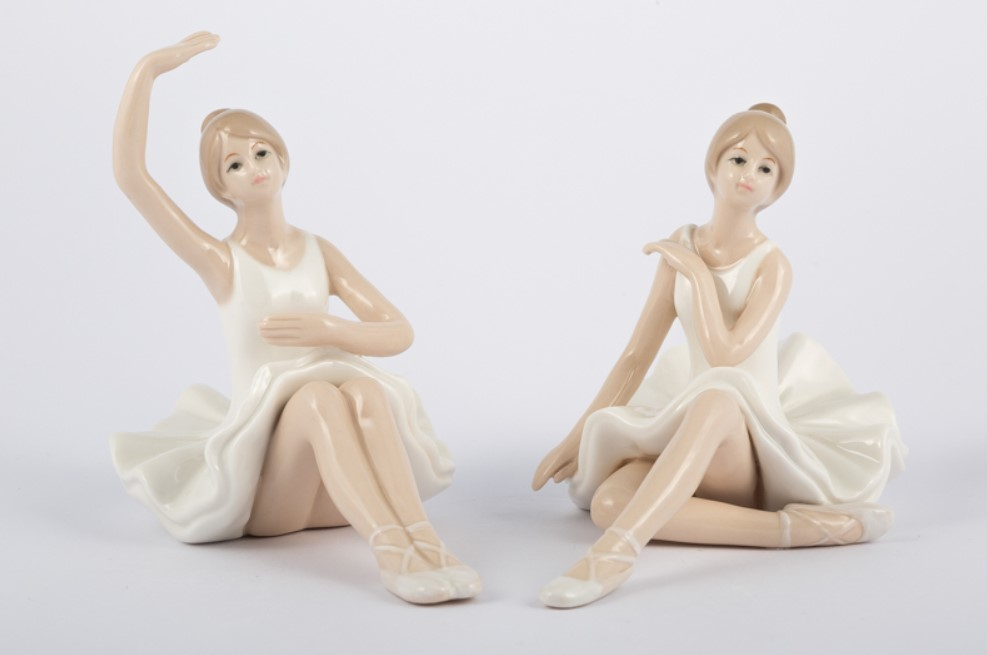 Bomboniera in porcellana ballerina Pz. 2