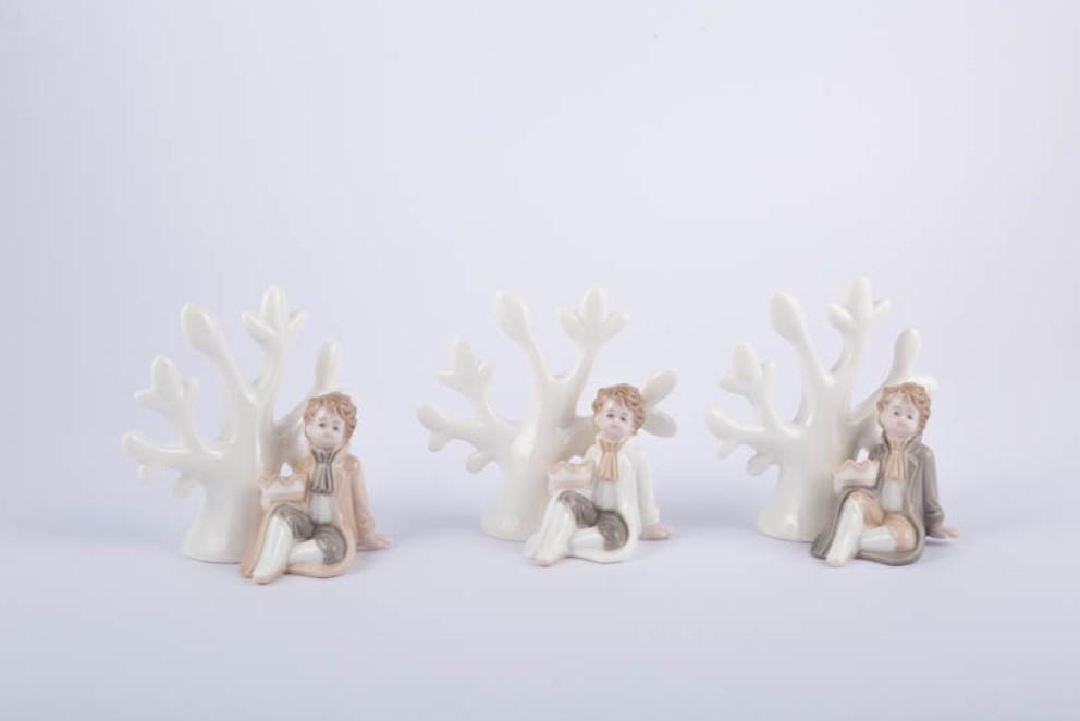 Bomboniera in porcellana principe con albero Pz. 3