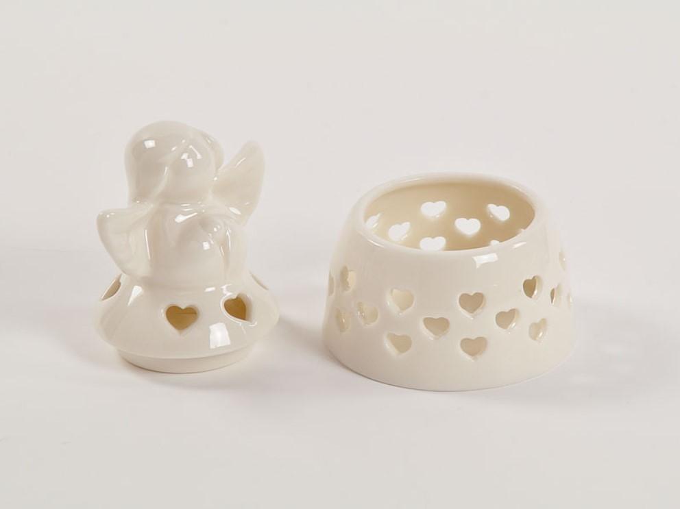 Bomboniera in porcellana scatola angelo bianco Pz. 1