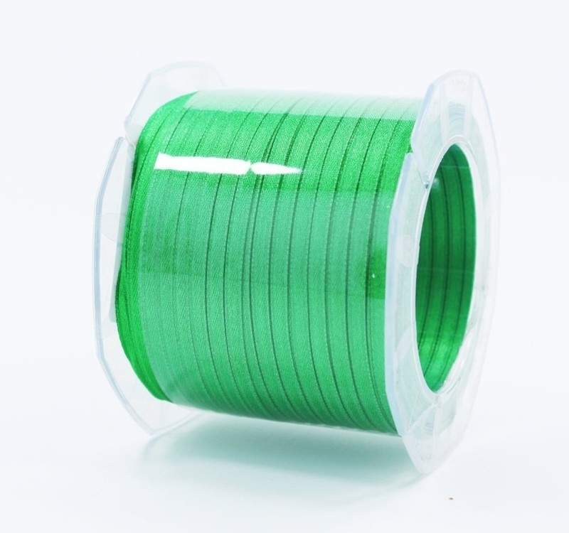 Furlanis nastro di raso verde scuro colore 32 mm.3  Mt.100
