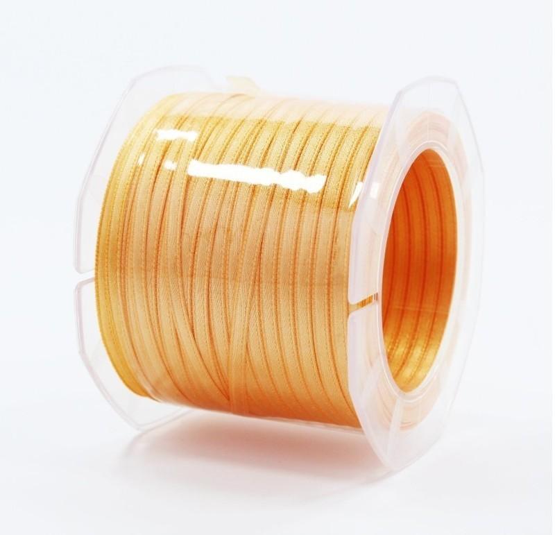 Furlanis nastro di raso arancio chiaro colore 113 mm.3  Mt.100