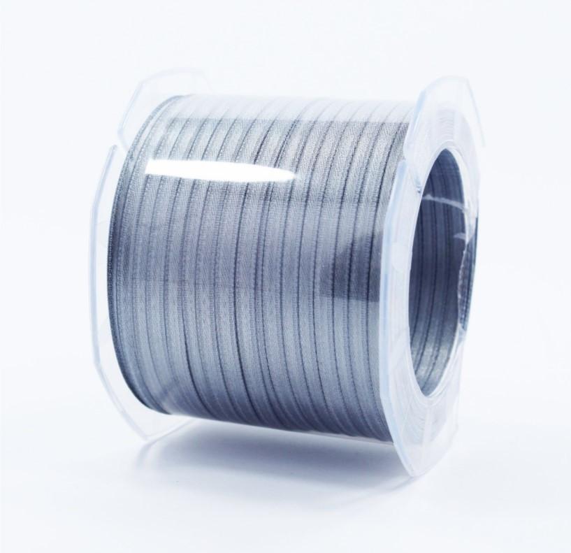 Furlanis nastro di raso grigio medio colore 75 mm.3  Mt.100