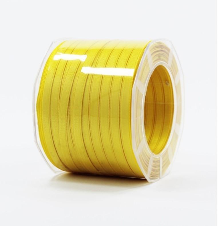 Furlanis nastro di raso giallo scuro colore 430 mm.6 Mt.100