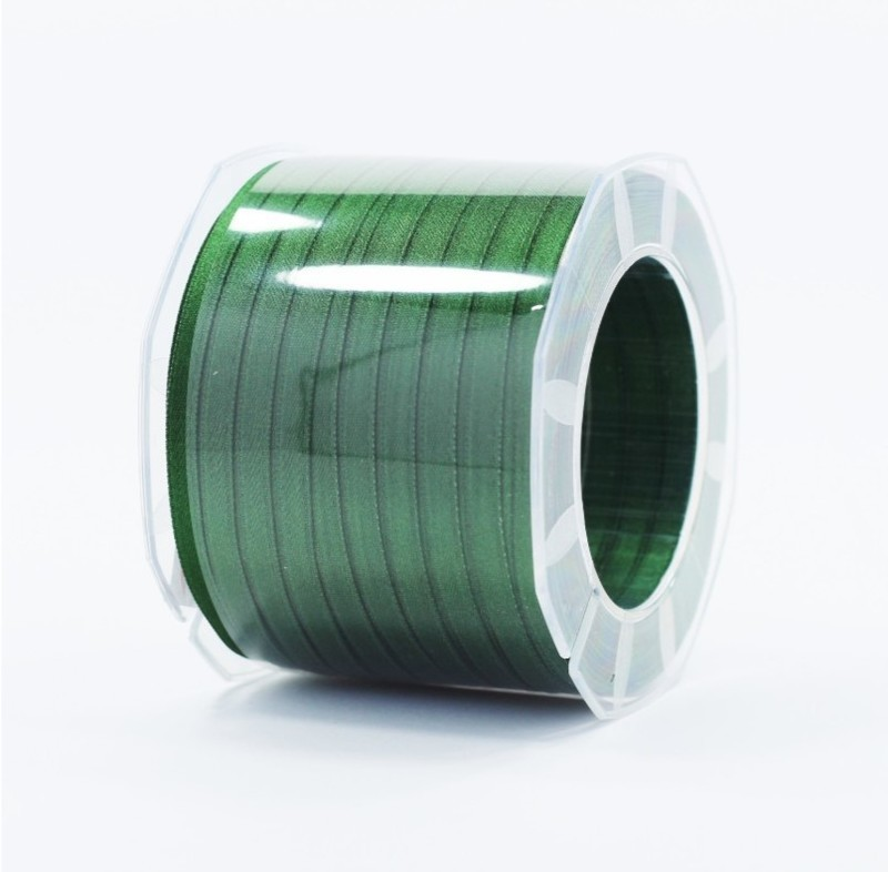 Furlanis nastro di raso verde bottiglia colore 633 mm.6 Mt.100