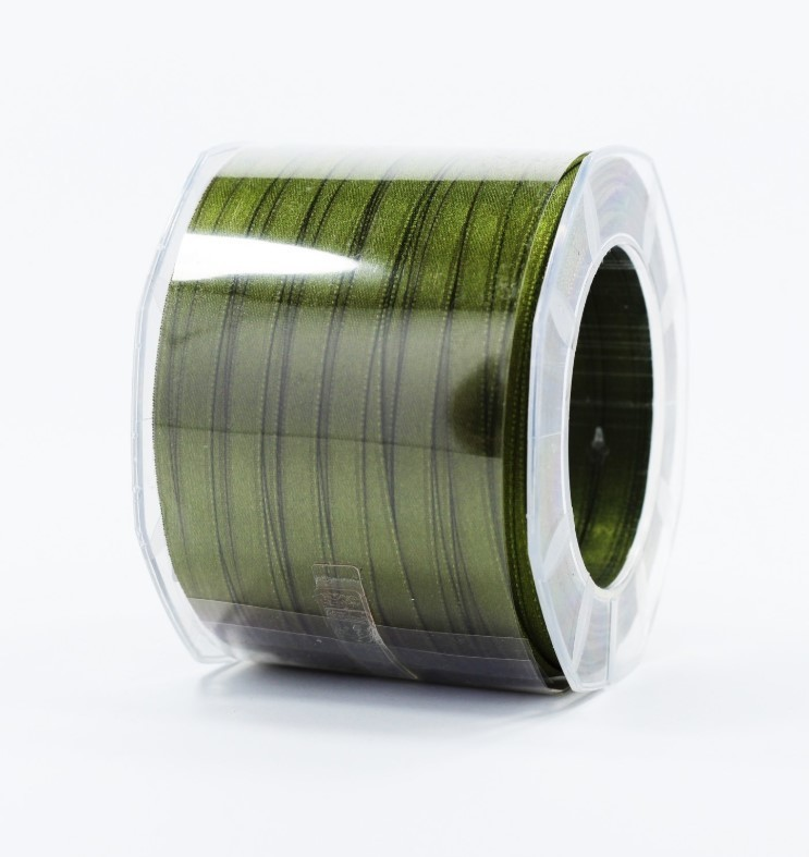 Furlanis nastro di raso verde oliva colore 39 mm.6 Mt.100