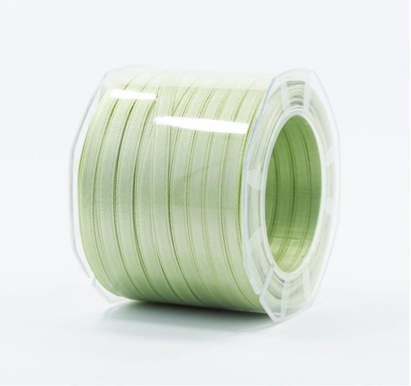 Furlanis nastro di raso verde medio colore 7 mm.6 Mt.100