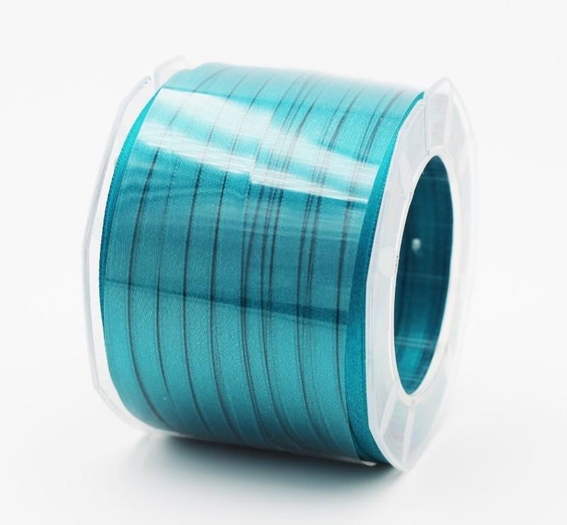Furlanis nastro di raso petrolio colore 65 mm.6 Mt.100