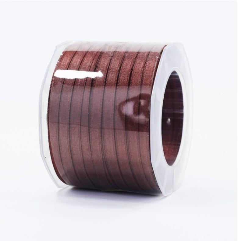 Furlanis nastro di raso marrone medio colore 1239 mm.6 Mt.100