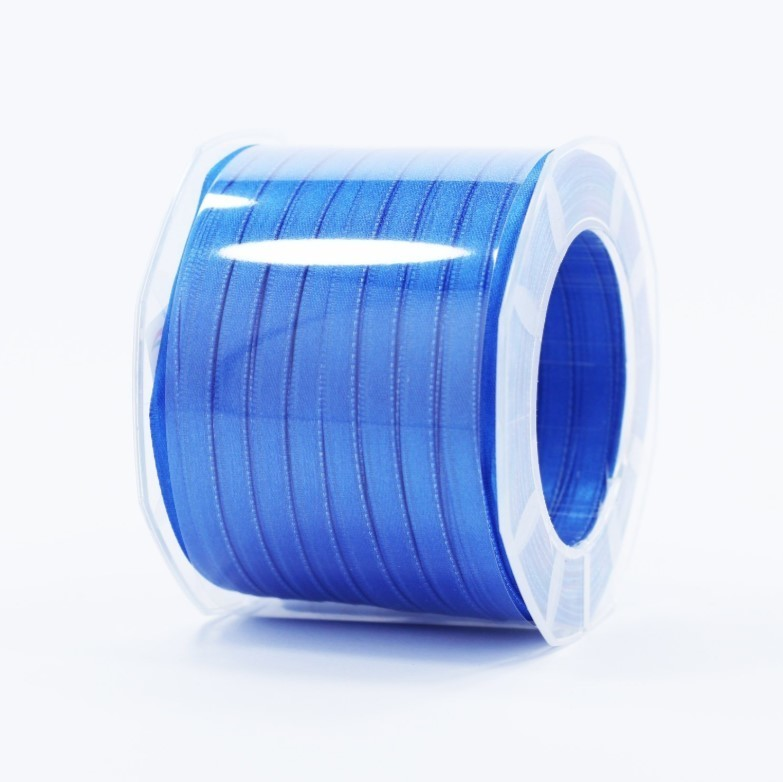 Furlanis nastro di raso bluette colore 654 mm.6 Mt.100