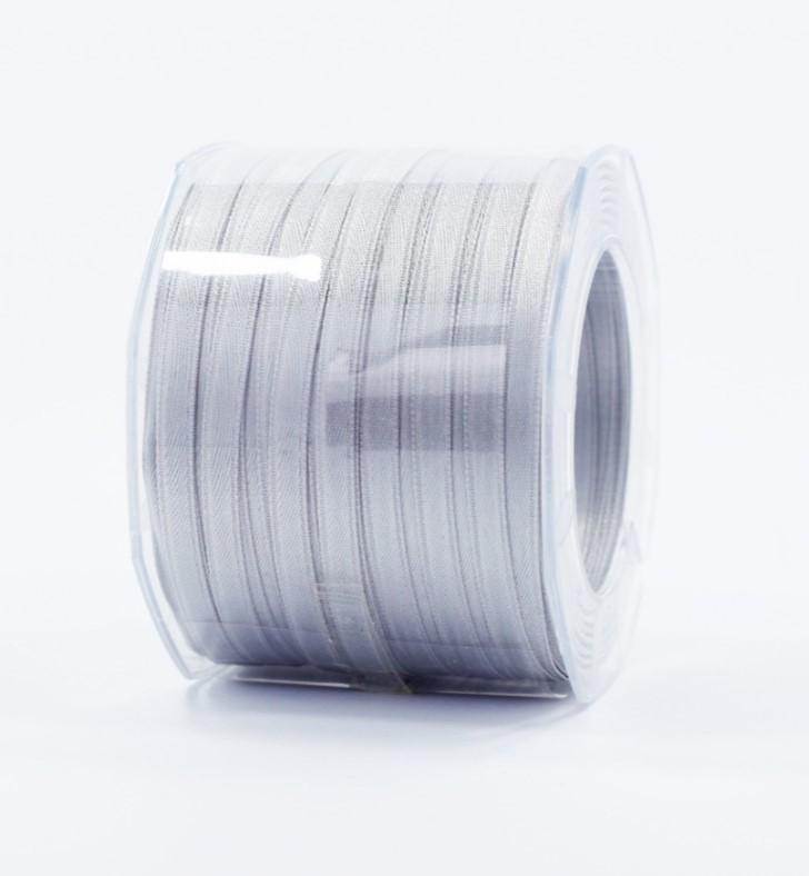 Furlanis nastro di raso grigio perla colore 73 mm.6 Mt.100