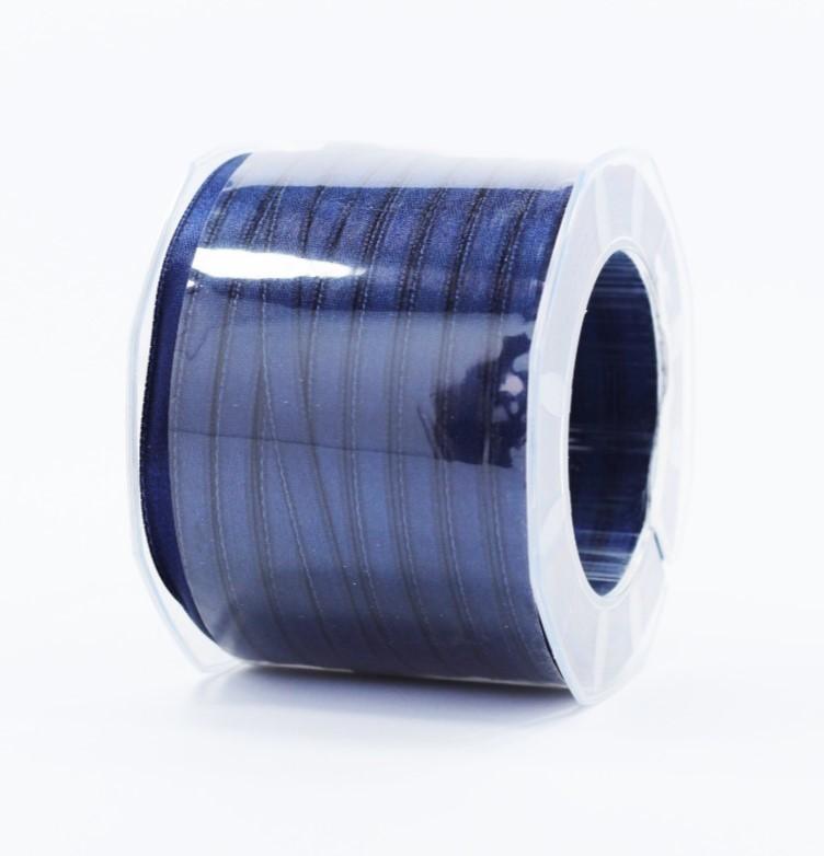 Furlanis nastro di raso blu scuro colore 1080 mm.6 Mt.100