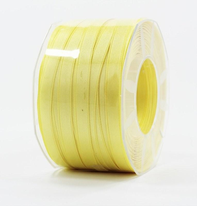 Furlanis nastro di raso giallo chiaro colore 428 mm.10 Mt.100