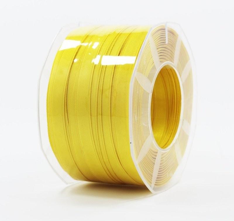 Furlanis nastro di raso giallo scuro colore 430 mm.10 Mt.100