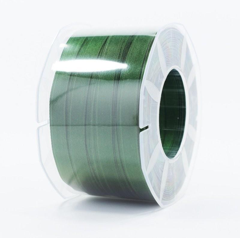 Furlanis nastro di raso verde bottiglia colore 633 mm.10 Mt.100