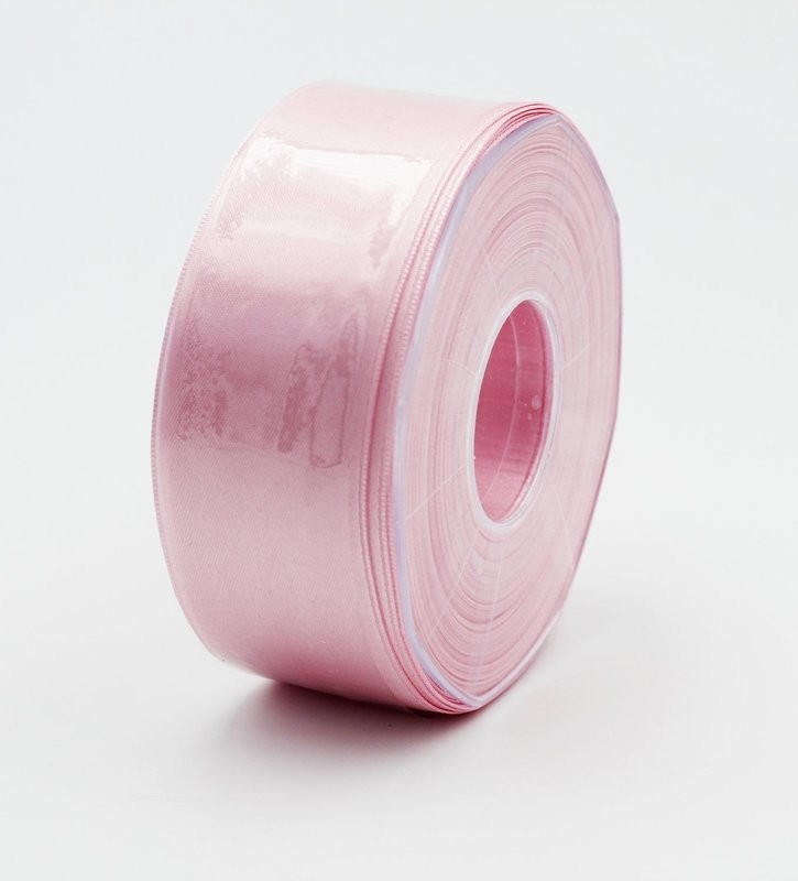 Furlanis nastro di raso rosa chiaro colore 20 mm.40 Mt.25