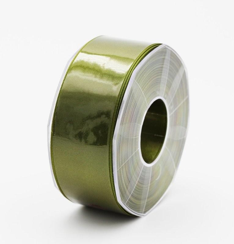 Furlanis nastro di raso verde oliva colore 39 mm.40 Mt.25