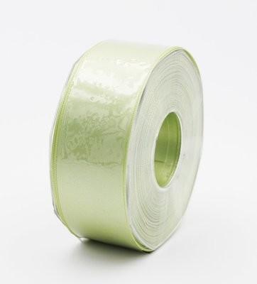 Furlanis nastro di raso verde medio colore 7 mm.40 Mt.25