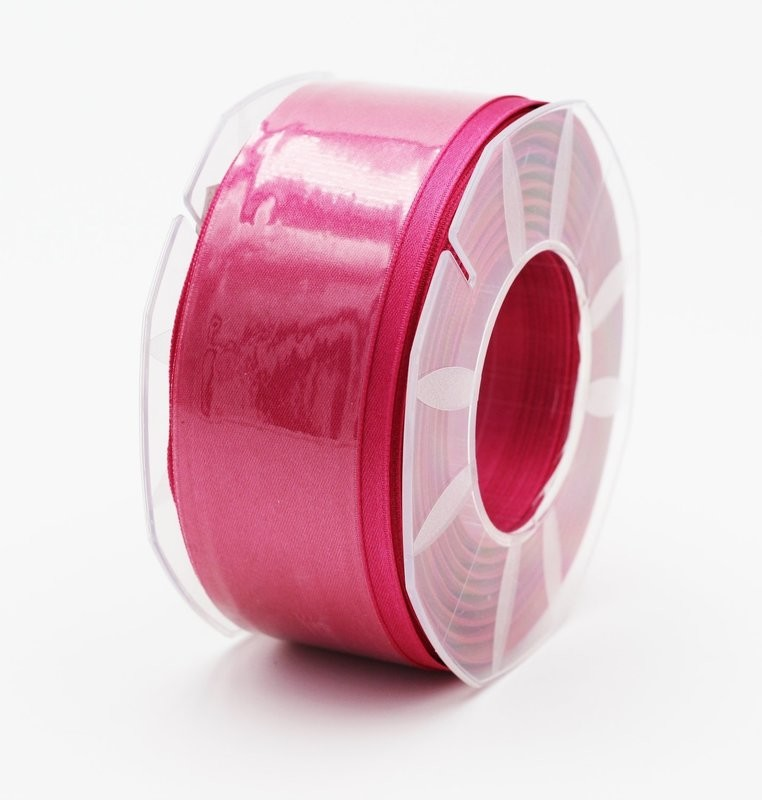 Furlanis nastro di raso fuxia scuro colore 26 mm.40 Mt.25