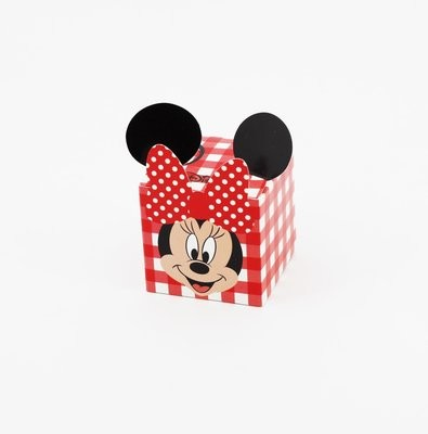 Cubo party minnie rosso Pz.10
