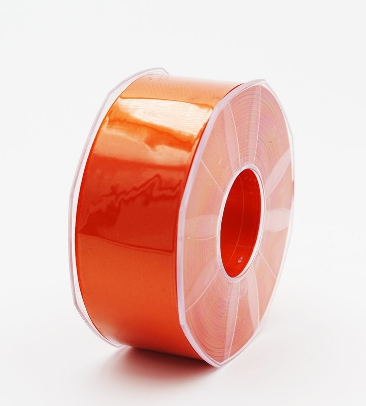 Furlanis nastro di raso arancio scuro colore 40  mm.40 Mt.25