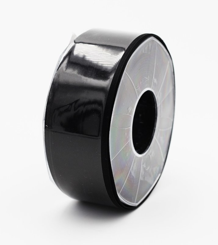 Furlanis nastro di raso nero colore 33 mm.40 Mt.25