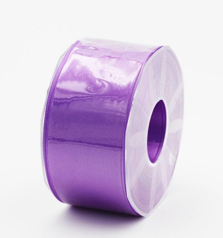 Furlanis nastro di raso viola colore 76 mm. 48 Mt. 25