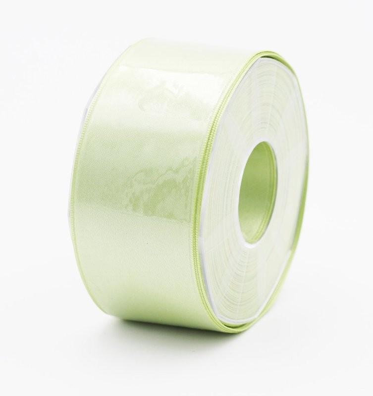 Furlanis nastro di raso verde medio colore 7 mm. 48 Mt. 25