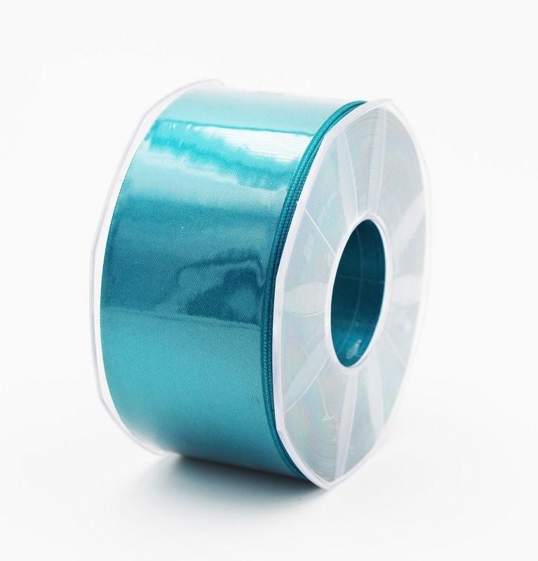 Furlanis nastro di raso petrolio colore 65 mm. 48 Mt. 25