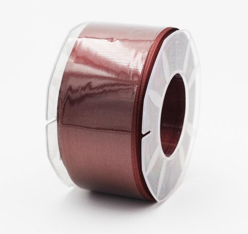 Furlanis nastro di raso marrone medio colore 1239 mm. 48 Mt. 25