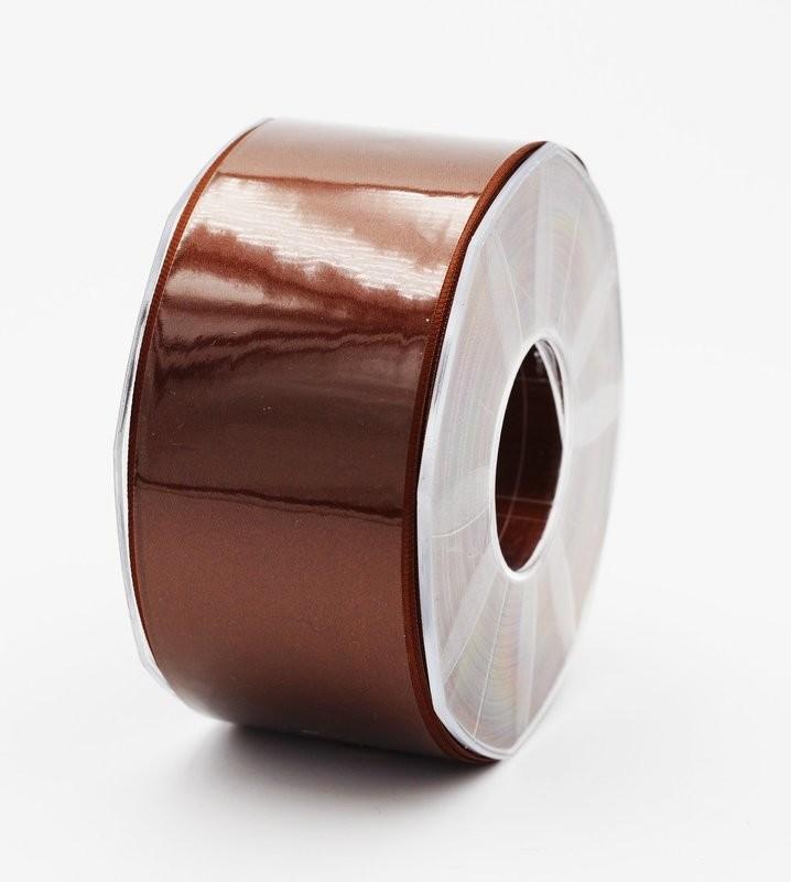 Furlanis nastro di raso marrone colore 44 mm. 48 Mt. 25