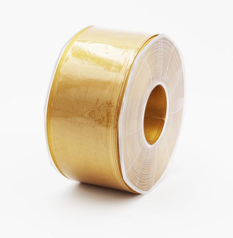 Furlanis nastro di raso giallo ocra colore 1085 mm. 48 Mt. 25