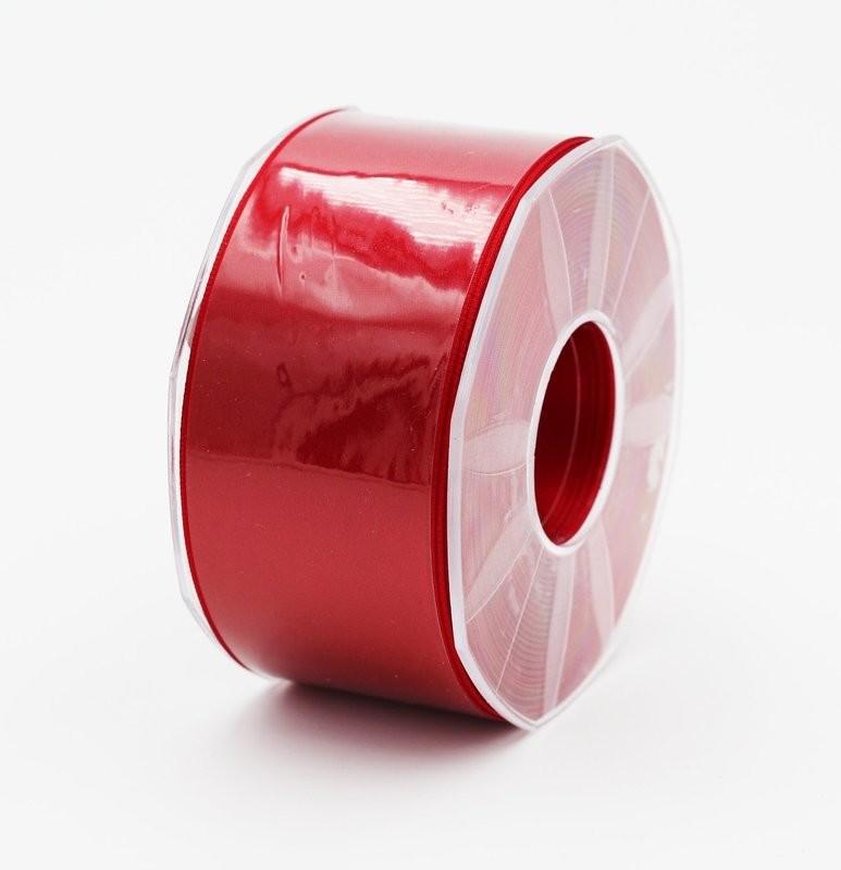 Furlanis nastro di raso rosso scuro colore 46 mm. 48 Mt. 25