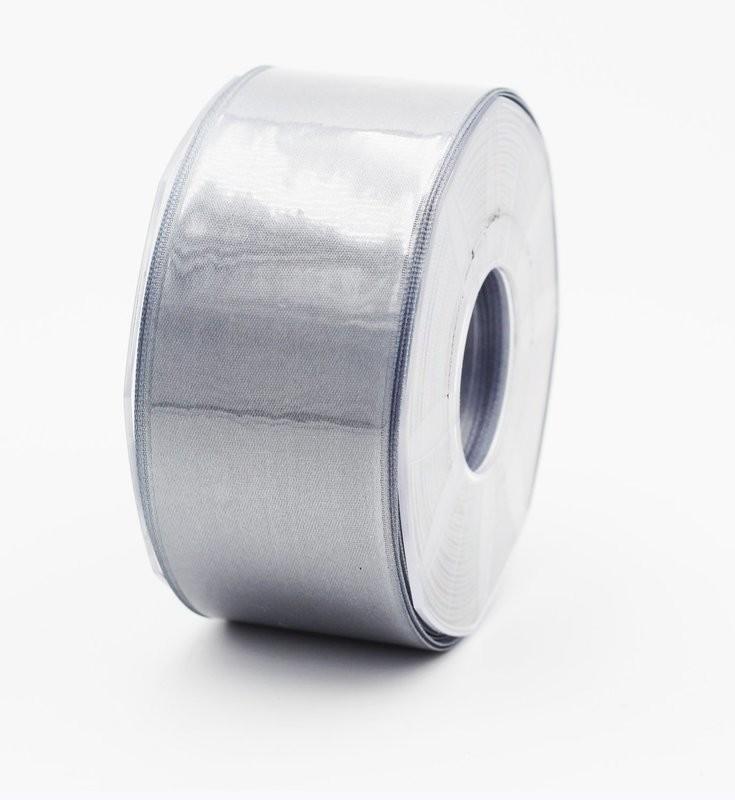 Furlanis nastro di raso grigio medio colore 75 mm. 48 Mt. 25